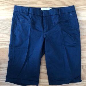 NWOT Anthropologie, Blue, Cuffed Shorts, 0